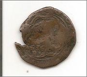 4 maravedís a nombre de los RR.CC. resellados a VIII de 1603 y a XII de 1636 Burgos. Escanear0001