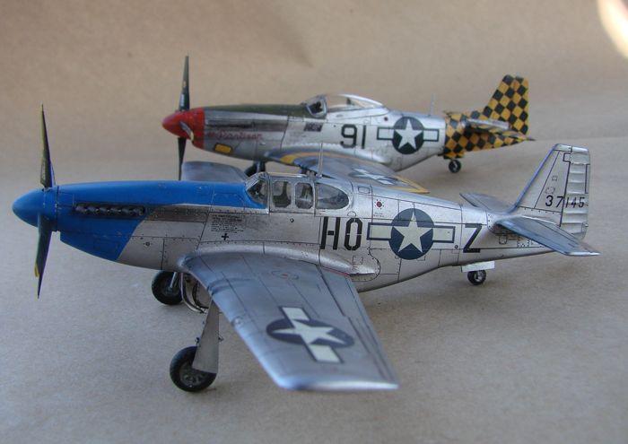 Mustang x2 P-51B Revell & P-51D Tamiya, 1/72 DSC09787