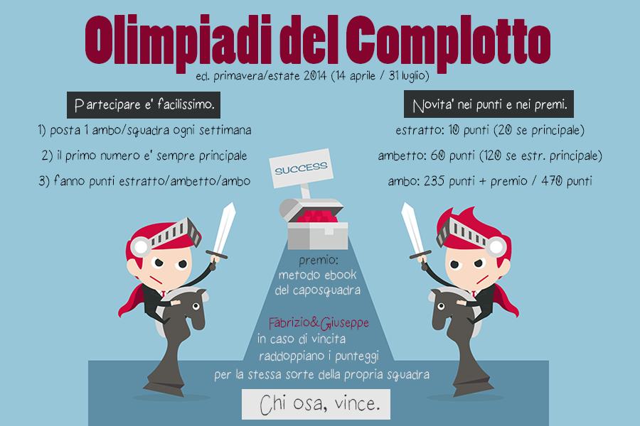 OLIMPIADI DEL COMPLOTTO (NUOVA EDIZIONE): 13-15-17 maggio 2014 Olimpiadi_primavera