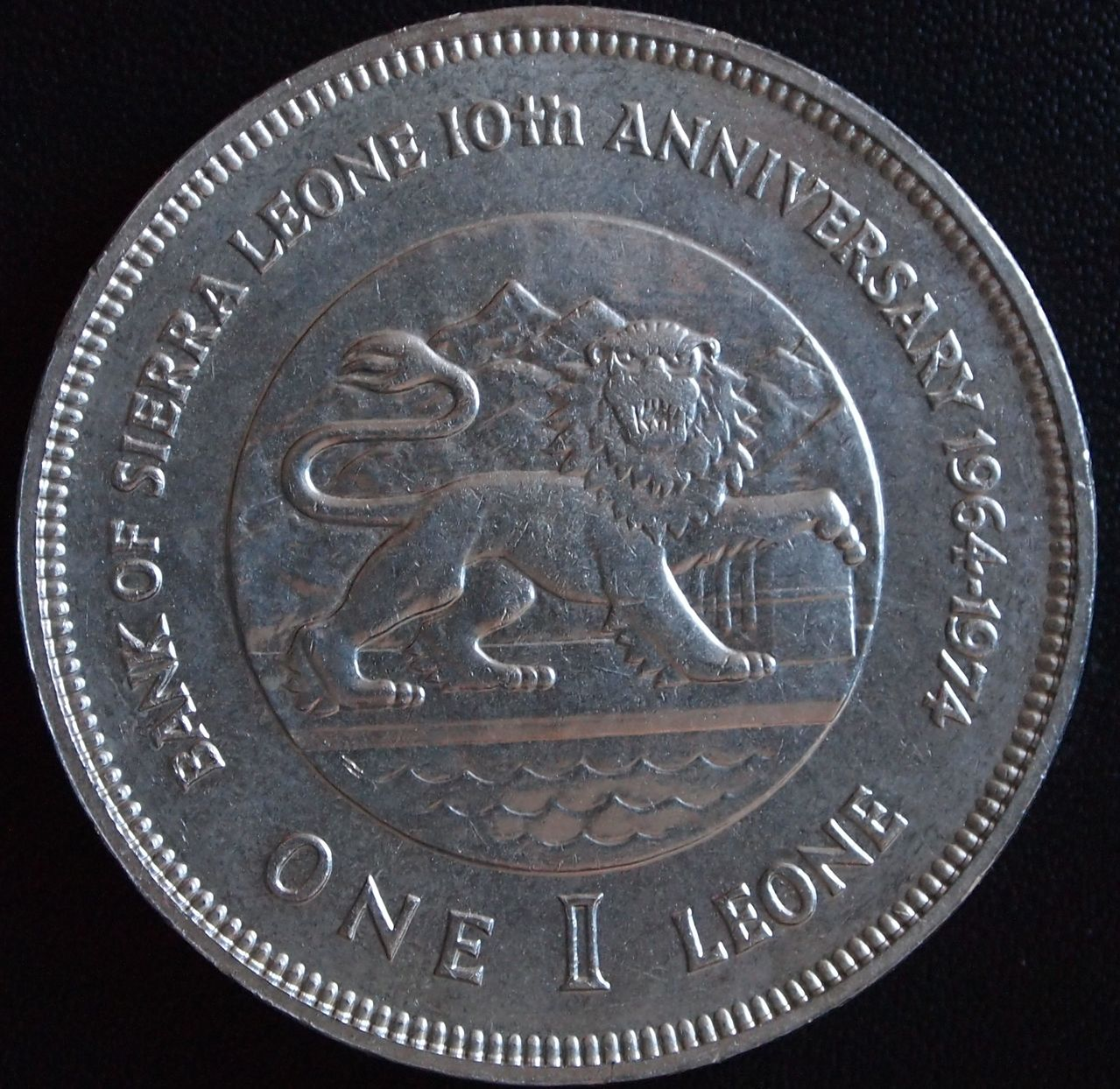 1 leone sierra leona 1974 2