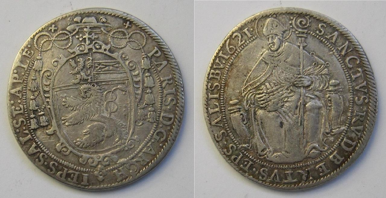 1 Thaler de Salzburgo. Austria. 1621 1_Thaler_Salzburgo_Austria_1621