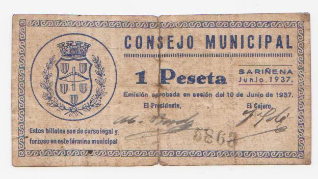 1 Peseta Sariñena, Junio 1937 Sar_ena_1_pta