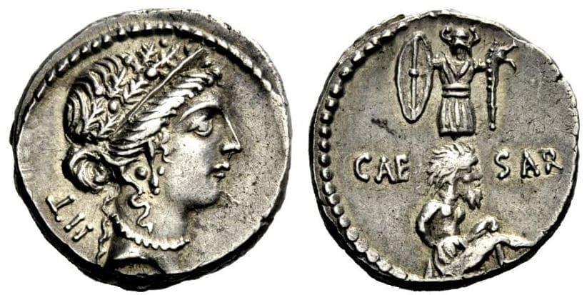 ديناريوس عسكري ليوليوس قيصر في حربه على بلاد الغال  Juluis_qaisr