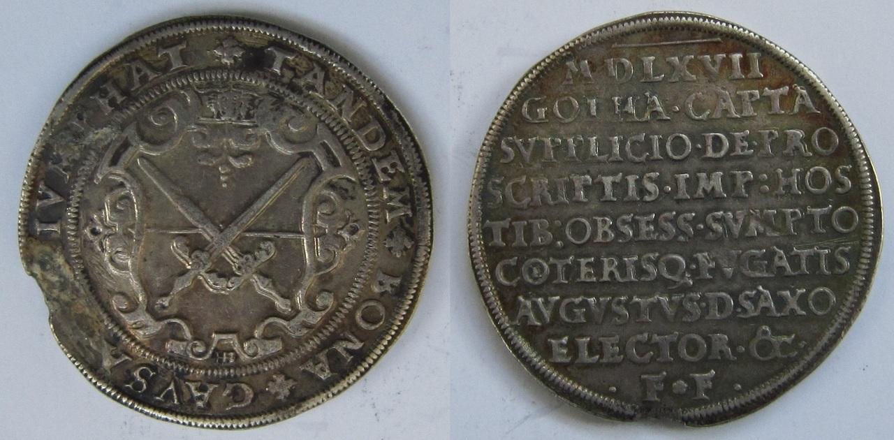 1 Thaler. Estados alemanes. Sajonia. 1567 1_Thaler_Sajonia_1567