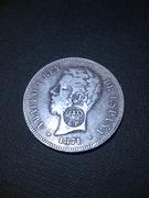 5 pesetas 1871. Amadeo I (Resello Gobierno Portugués) IMG_3804