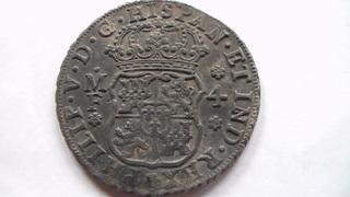 4 reales Felipe V, México. 1736. Tipo columnario.  SAM_1093