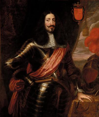 Jetón Fortificación de Charleroi. Año 1667. Bruselas. Carlos II. Dedicado a Sevix D_FRANCISCO_DE_MOURA_CORTE_REAL_1