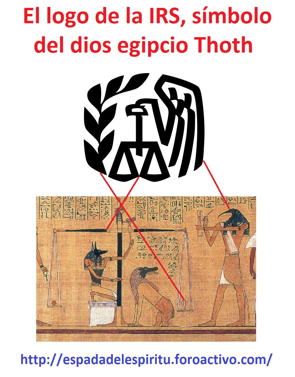 El logo de la IRS, símbolo del dios egipcio Thoth Sin_t_tulo