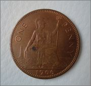 One Penny 1966 Elizabeth II Reino Unido Image