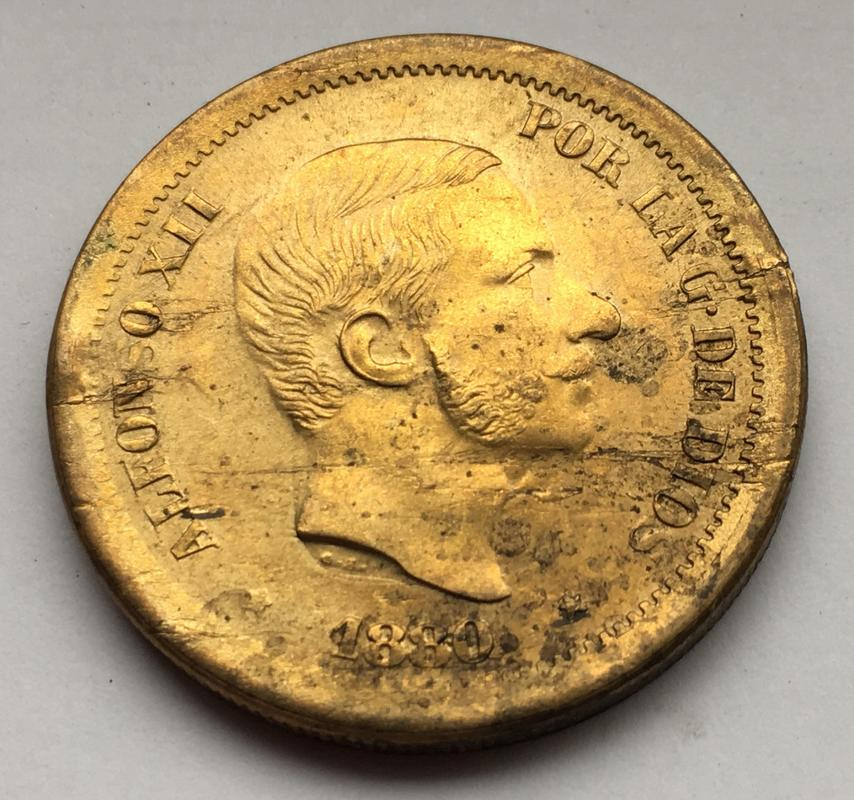 50 centavos de Peso 1880. Estado Español. Pruebas de máquinas. (Anmem dedit)  IMG_9605