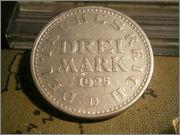 3 Mark. Alemana, Republica de Weimar. 1925 P1060360