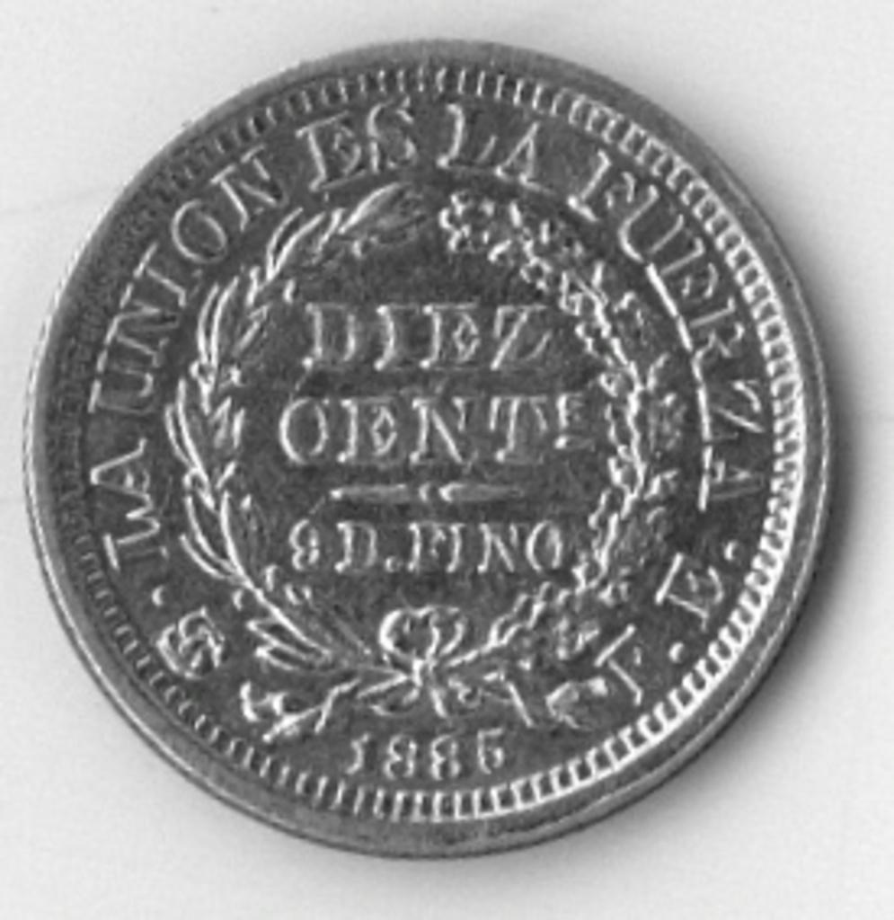 10 Centavos. Republica de Bolivia. 1885. Potosi Scan_BMP