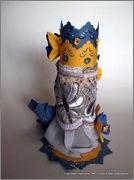 Скрапбукинг. Голубой мак, карандашница или декорваза для сухоцветов. 1_DSCF1980