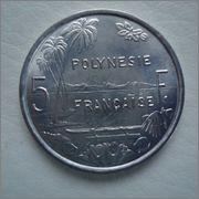 5 francos 1977 Polinesia Francesa  Image
