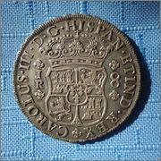 8 reales de Carlos III 1770, Potosí, tipo columnario. Image