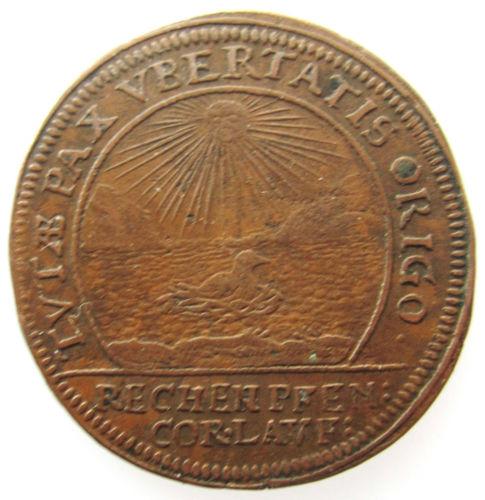 Jetón de Felipe IV. Amberes. 1661. La Paz, fuente de Prosperidad. Nacimiento de Carlos II. KGr_Hq_ZHJBYE7_k50nb_BPE_l_K1g_T_60_12