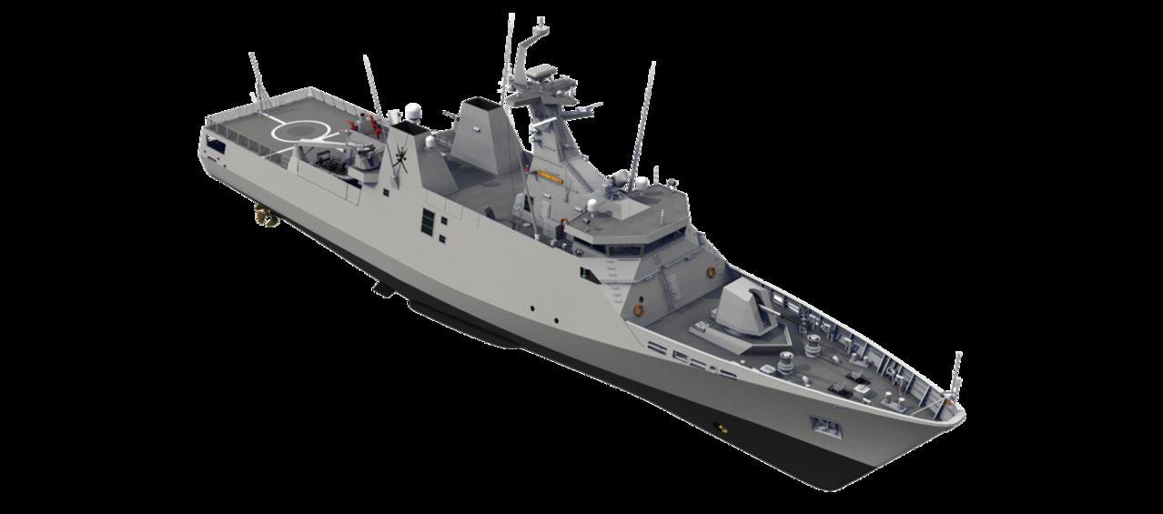 Diseño Damen de 2 generacion para Patrullas Oceanicas y/o Corbetas - Multimodal Sigma_Corvette_75132