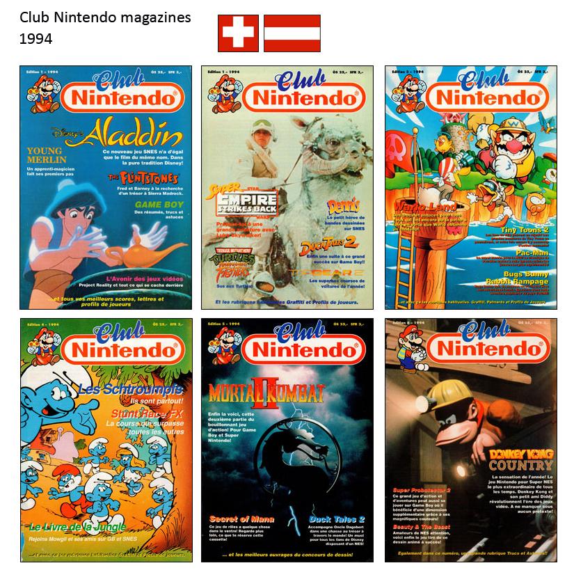 """Magazine """"Club Nintendo"""" 1994_Suisse"""