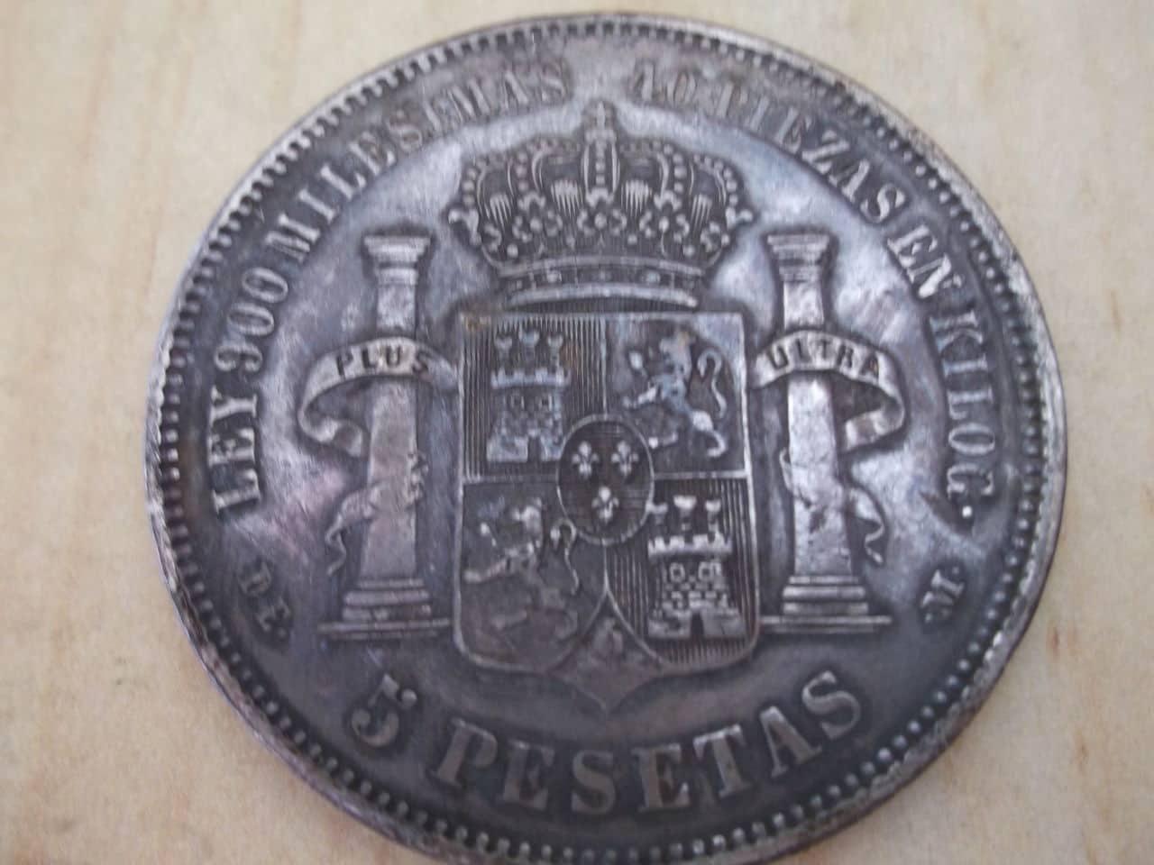 5 pesetas de 1875 DEM DSCF3343