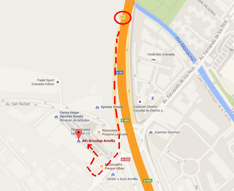 Kdd IV Aniversario komandovagsur - Granada 11 de Octubre de 2015 Mapa_AKI