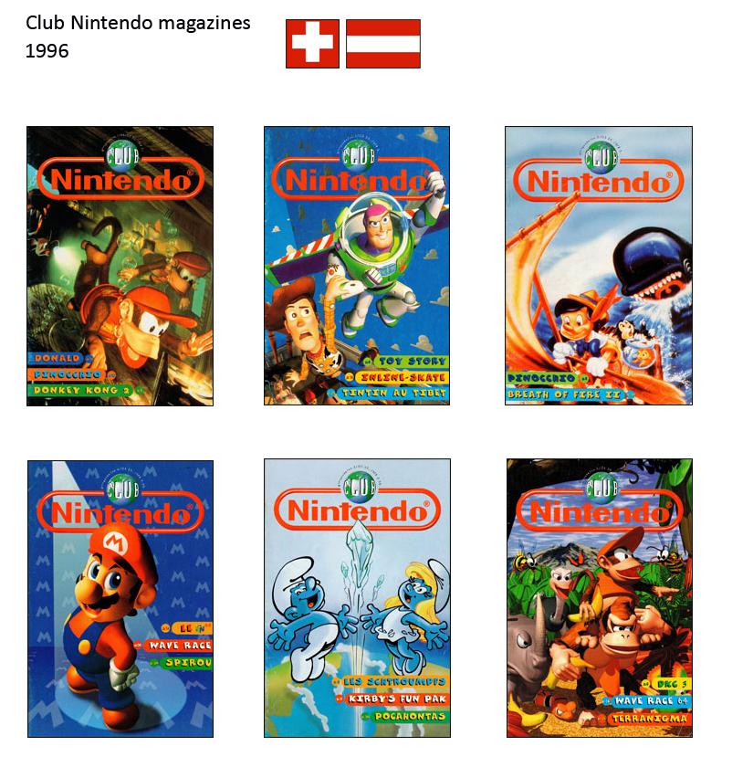 """Magazine """"Club Nintendo"""" 1996_Suisse"""