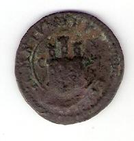 II maravedís del Ingenio Segovia de 1601, resellada a IIII maravedís en 1603. Toledo Escanear0052