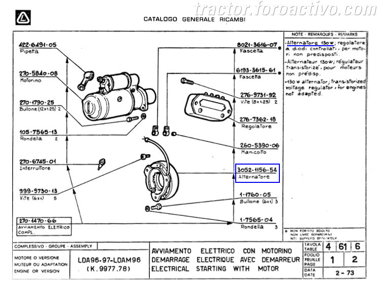 [Agria 1900 ED20] Cables plato magnetico Estator_lombardini_LDA96_2