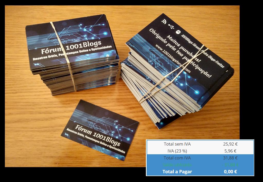 [Provado] 360Imprimir - Cartões de Visita, Flyers a preço LOWCOST ou Grátis - 5 Euros EXTRA - Prova