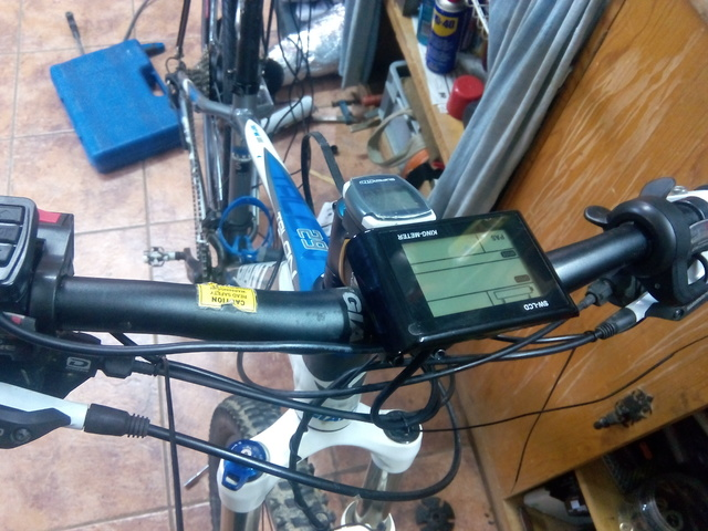 "Empezamos montaje kit Bafang BPM 500w en Giant Talon 29""er  IMG_20150901_175135"