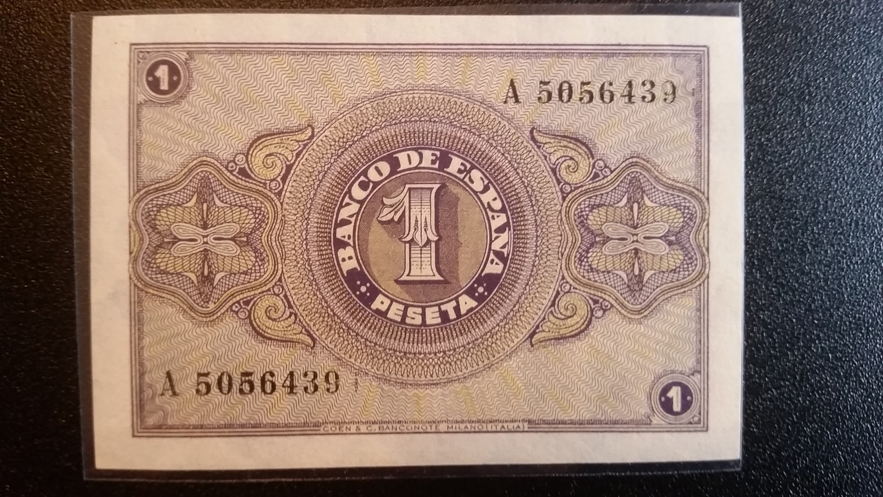 Colección de billetes españoles, sin serie o serie A de Sefcor pendientes de graduar 20161217_120615
