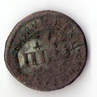 II maravedís del Ingenio Segovia de 1601, resellada a IIII maravedís en 1603. Toledo Escanear0047