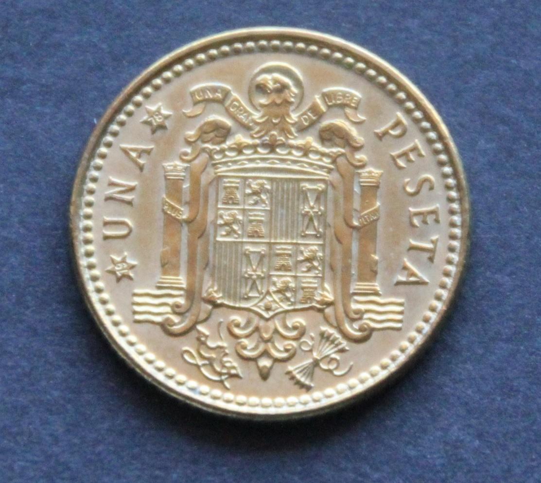 1 peseta 1975 *78 Reverso