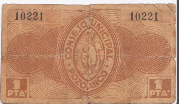 El billete peor conservado de esta seccion Pozoblanco_1_pta_rev