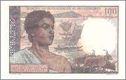 100 Francs Comoros, 1960-63 (P3) Comoros_P3a_100_francs_1960_Specimen_R