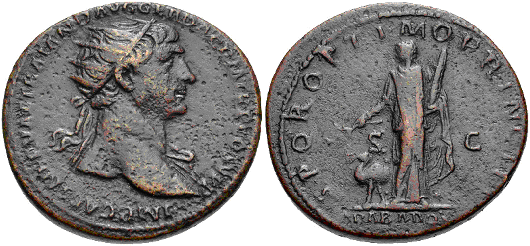 Dupondio de Trajano. SPQR OPTIMO PRINCIPI - Arabia. Roma Trajano_arabia