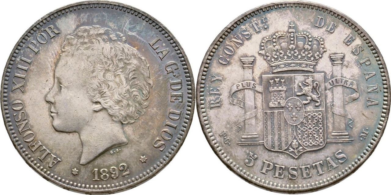 5 pesetas 1892. Alfonso XIII IMG_0674