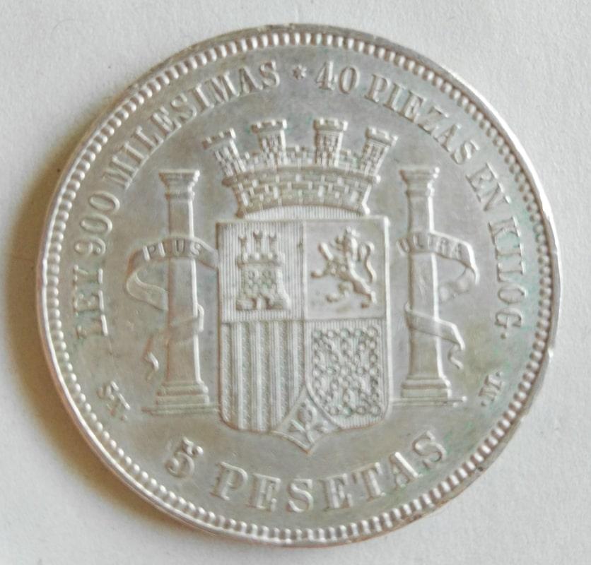 5 pesetas 1870. Gobierno Provisional 5pesetas70b
