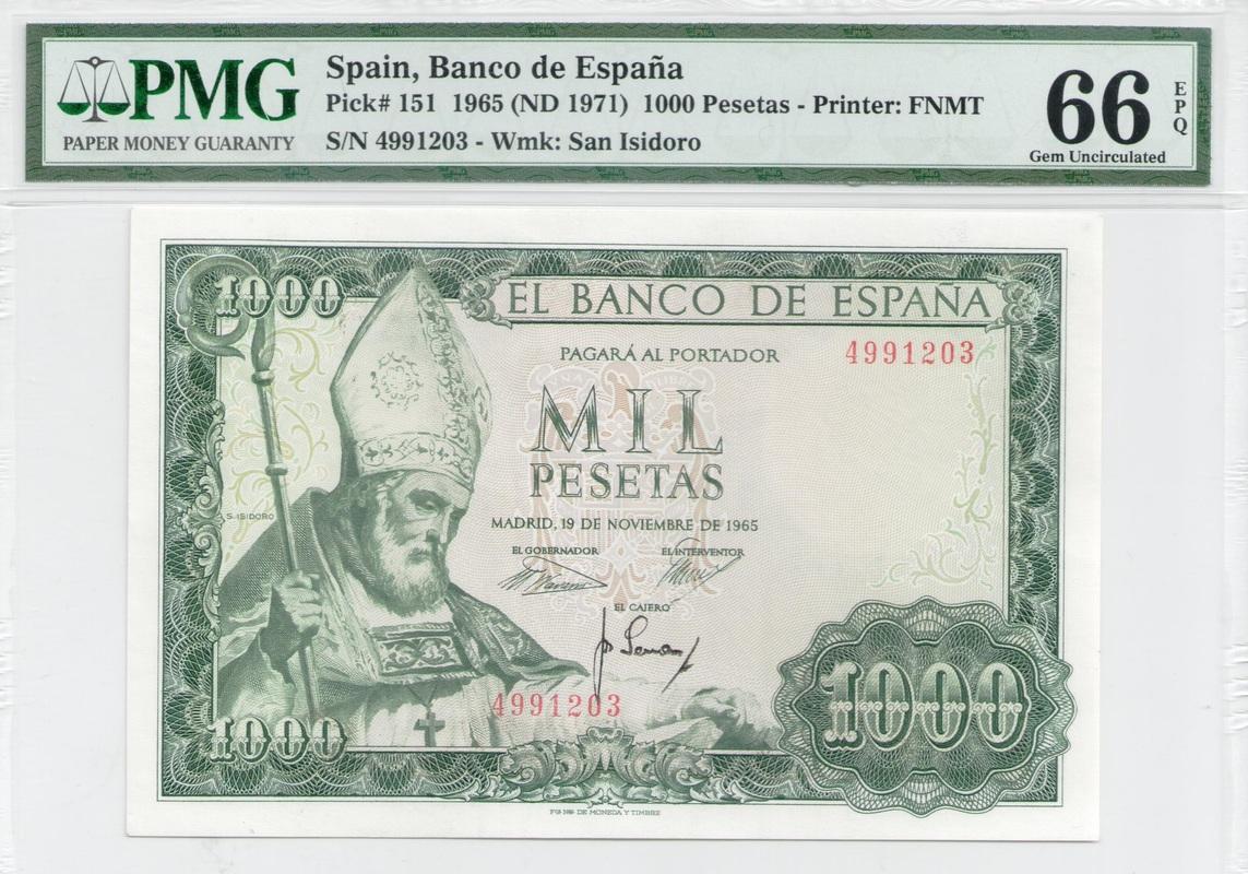 Colección de billetes españoles, sin serie o serie A de Sefcor - Página 3 1000_ptas_65_anverso