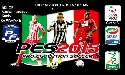 [PES2015 PS3] Super Lega Italian F.O version Beta Ufficiale 1.0 COVER_BETA_SUPER_LEGA_ITALIAN_V_1