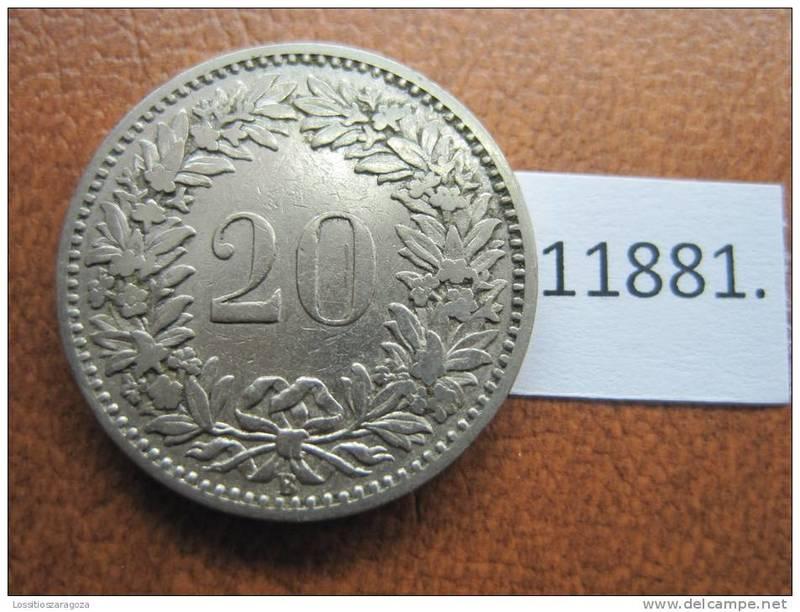 MONEDA DE 50 CENTAVOS (CABELLERA RIZADA) - ARGENTINA 1941 AAA_REVERSO_20_Rappen_1881