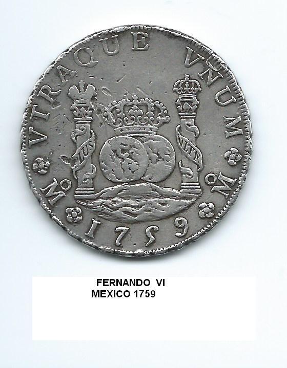 8 reales de Fernando VI año 1759 Image
