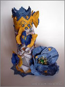 Скрапбукинг. Голубой мак, карандашница или декорваза для сухоцветов. 1_DSCF1970