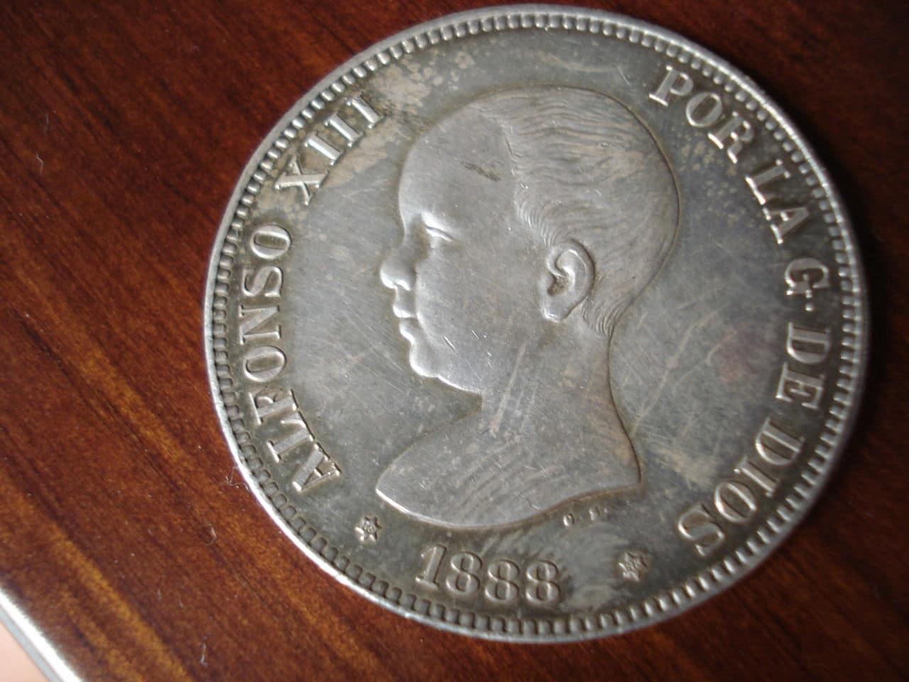 5 pesetas 1888 MPM. Alfonso XIII. Monedas_005