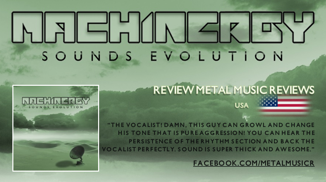 "MACHINERGY ""Sounds Evolution"" 2014 Review_metal_music_reviews"