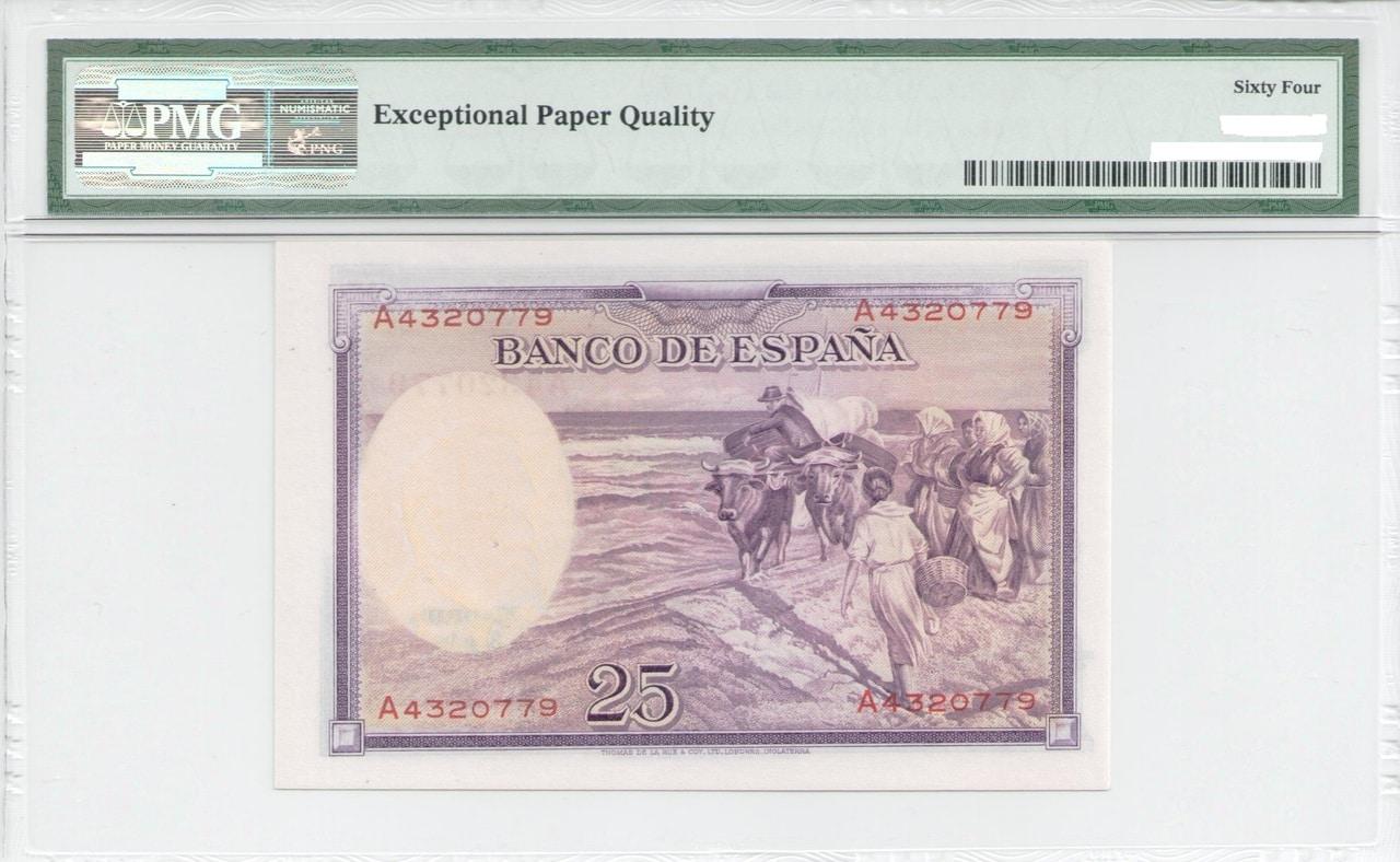 Colección de billetes españoles, sin serie o serie A de Sefcor - Página 3 25_del_36_reverso