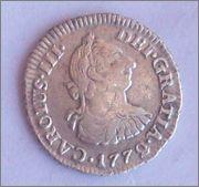 Medio real de Carlos III, Nuevo Reino. 1772. 102_2407