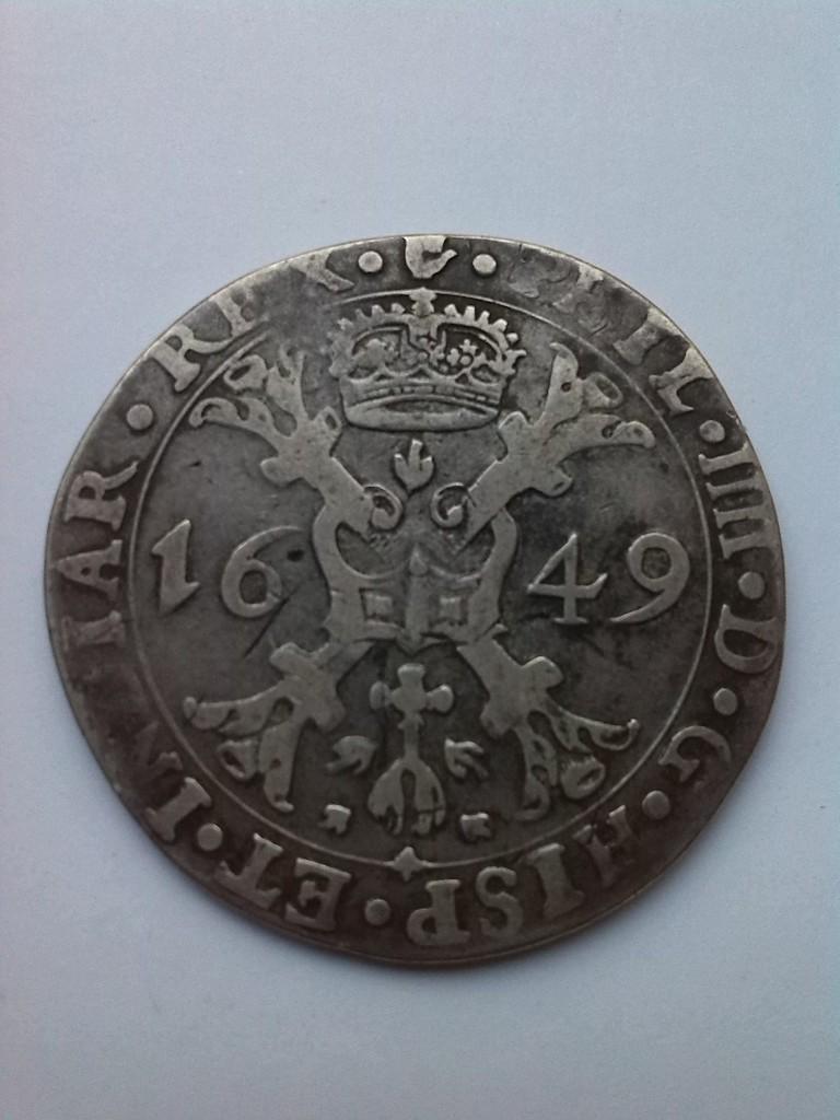 Patagón de 1649. Felipe IV, ceca de Amberes. Image