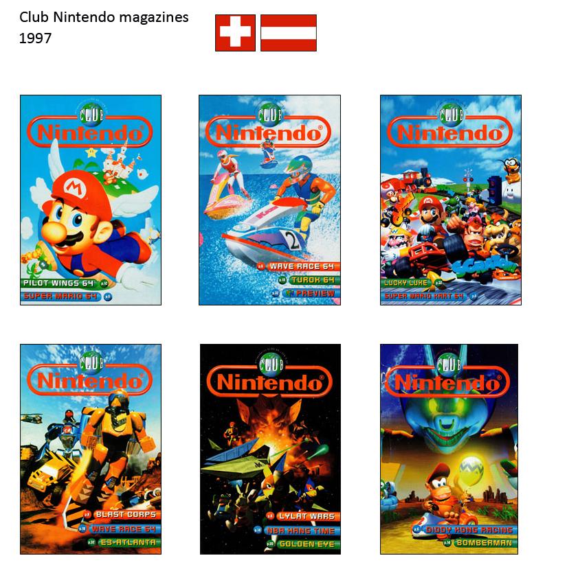 """Magazine """"Club Nintendo"""" 1997_Suisse"""