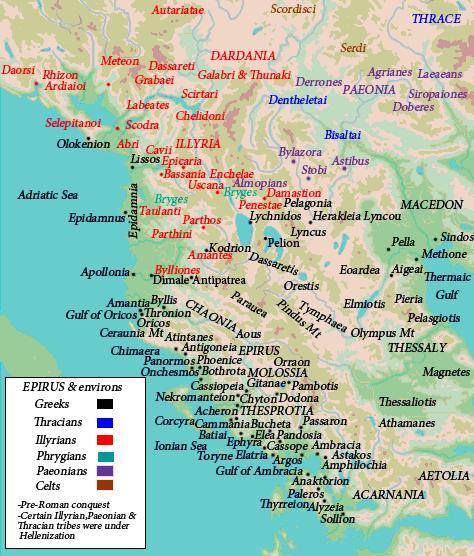 Dracma de Apolonia, Iliria. 50 a. C. Estudio. Mapa1