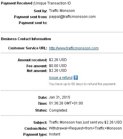 Trafficmonsoon - trafficmonsoon.com Trafficpayment